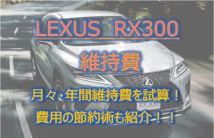 RX300_維持費